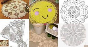 round crochet rugs ideas tutorials 1