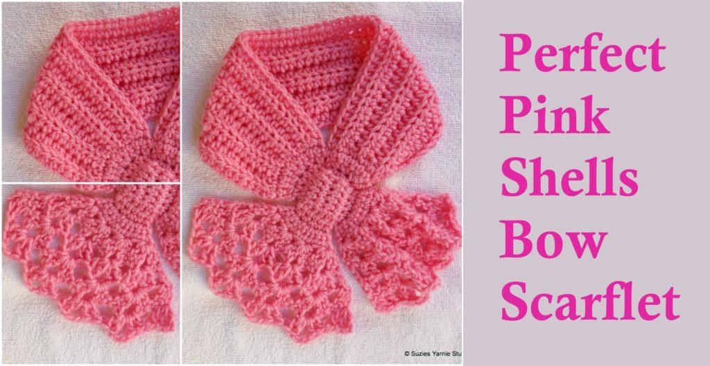 Crochet Shells Bow Scarflet