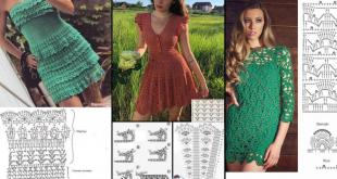 short crochet dresses patterns