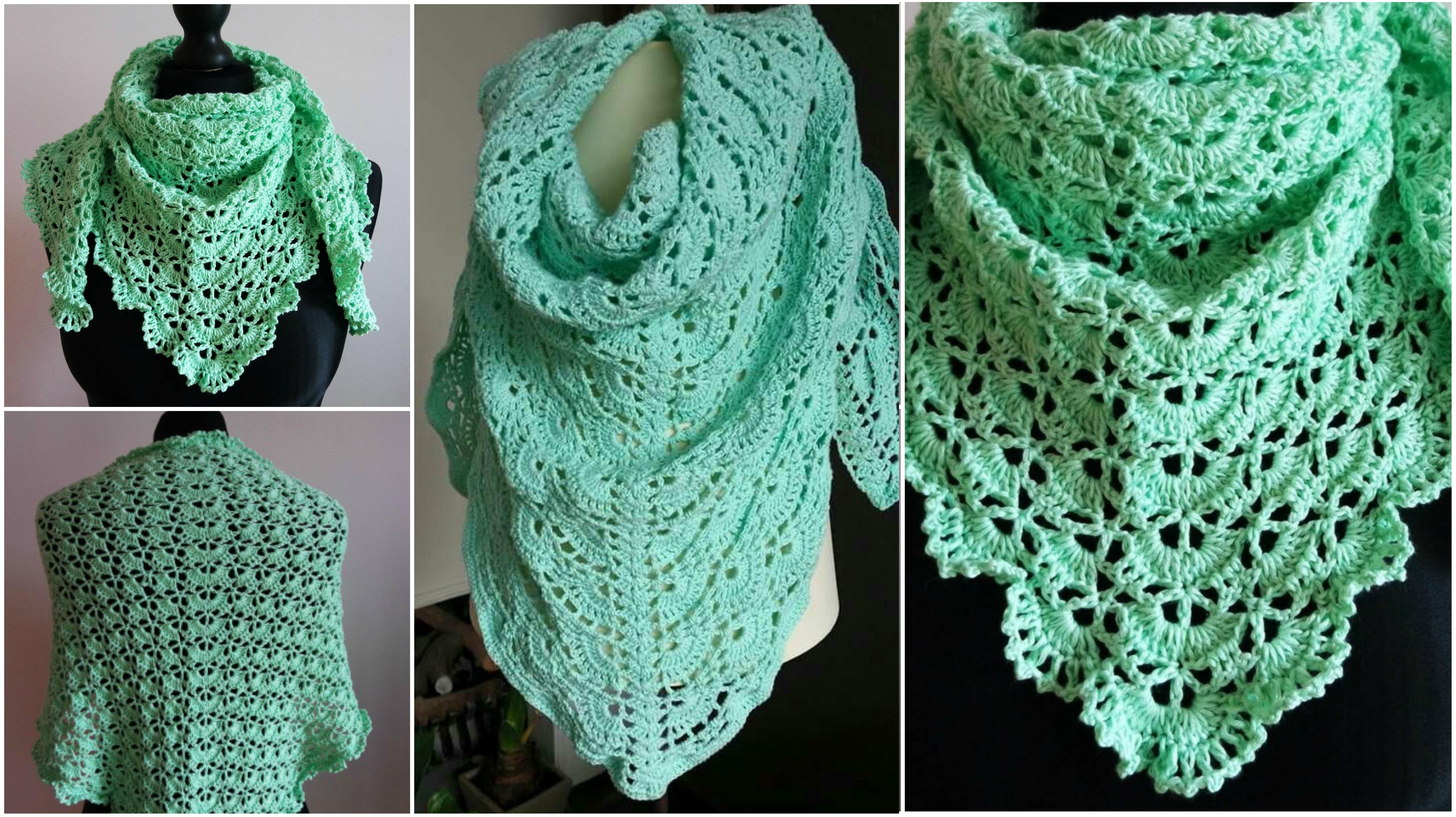 Free Crochet Shawl Patterns For Spring : Spring Baktus Wrap Shawl