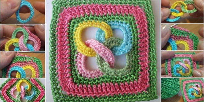 square motif with rings