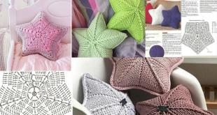 star pillow free knitting pattern