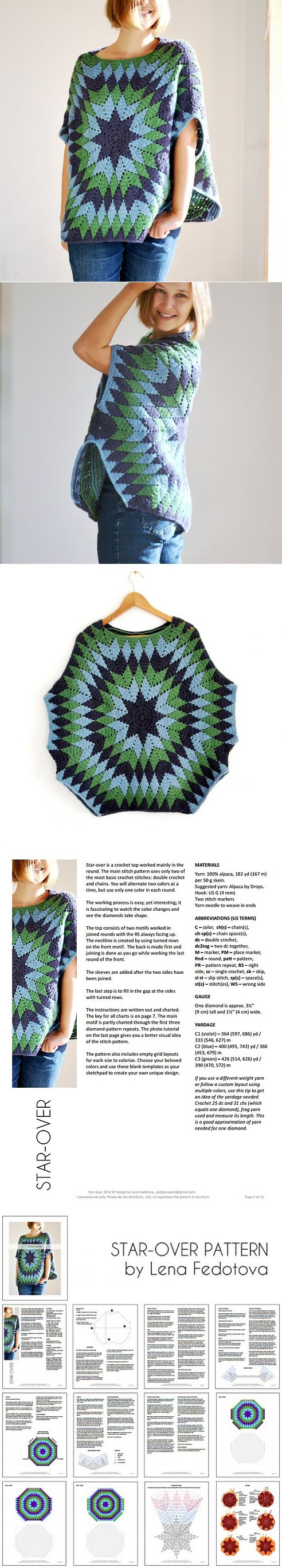 start over poncho pattern