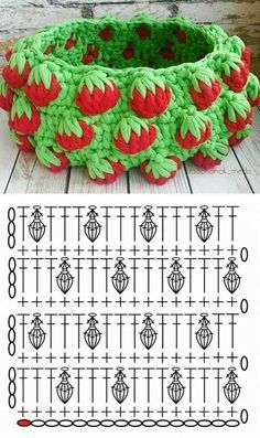 strawberry crochet stitch ideas and tutorials 6
