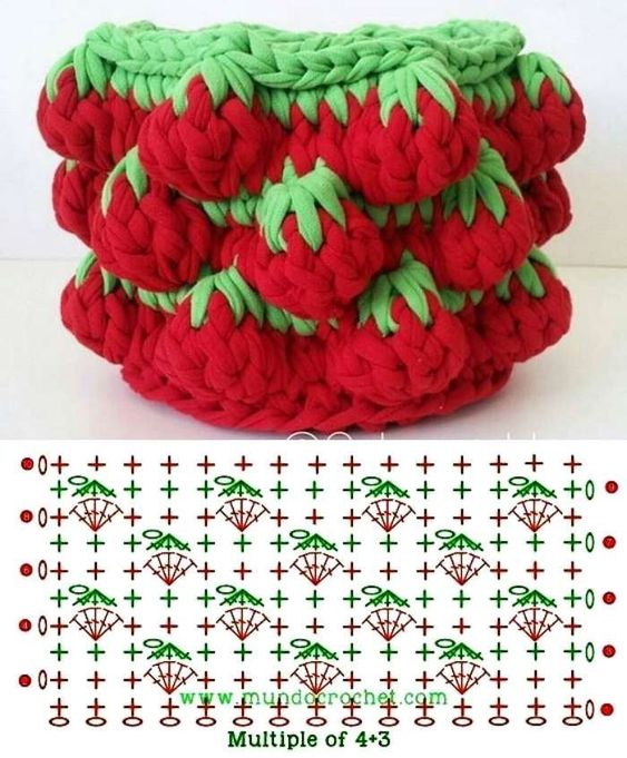 strawberry crochet stitch ideas and tutorials 7