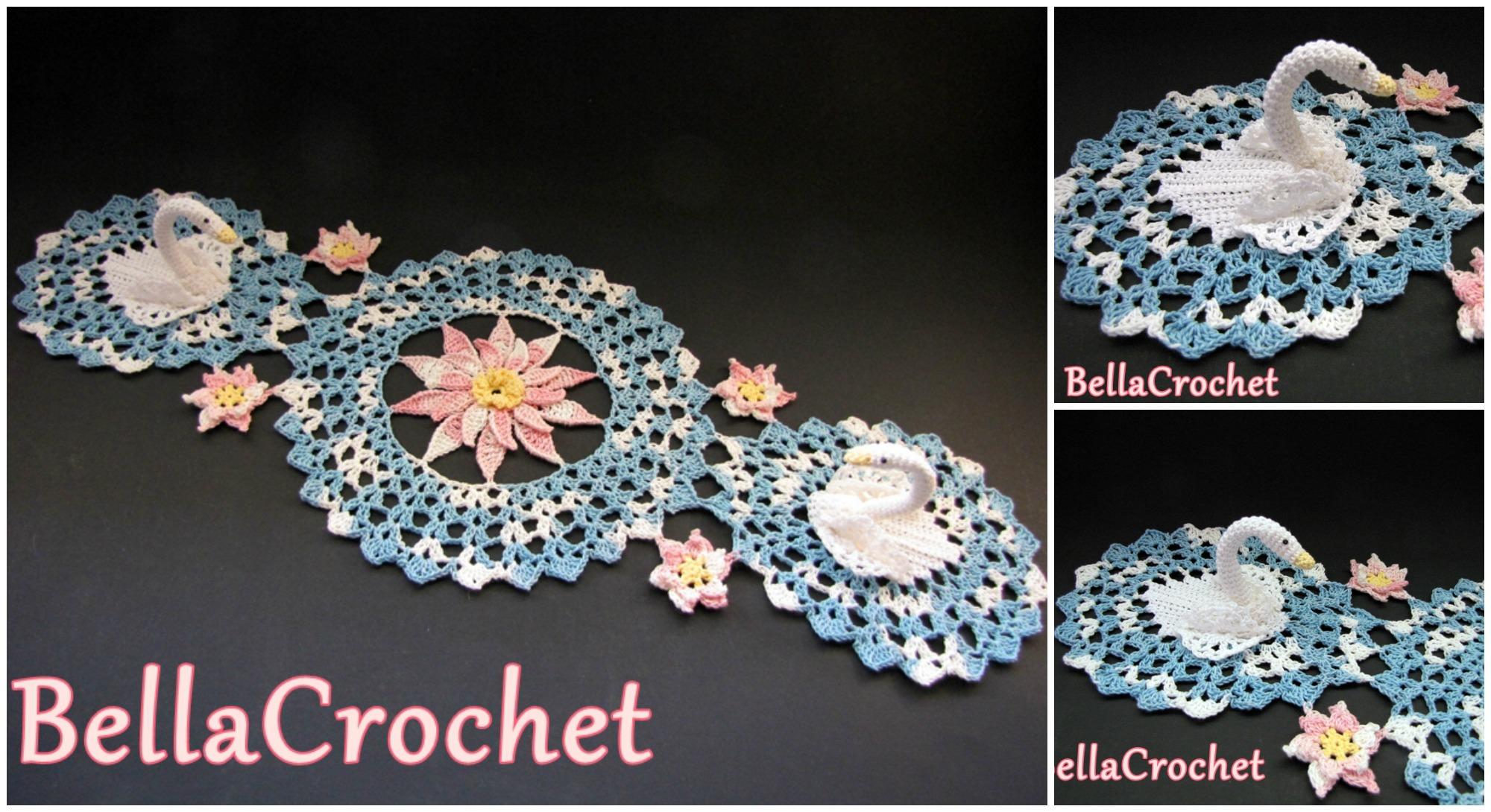 Free Crochet Swan Doily Pattern : Swans Doily (Free Crochet Pattern)
