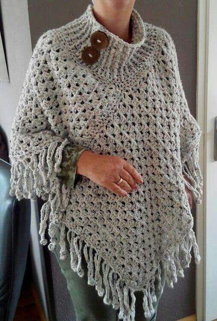 tuto Poncho crochet 6