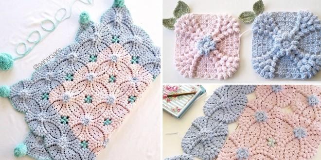 vintage square crochet